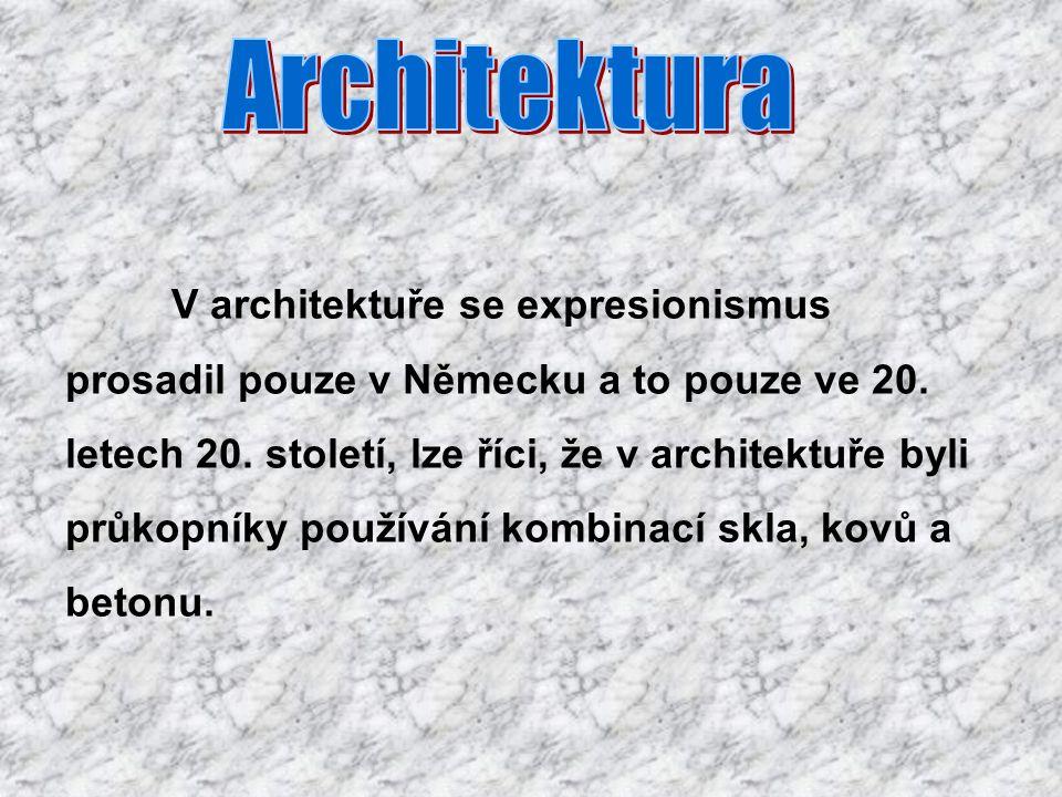 Architektura prosadil pouze v Německu a to pouze ve 20.