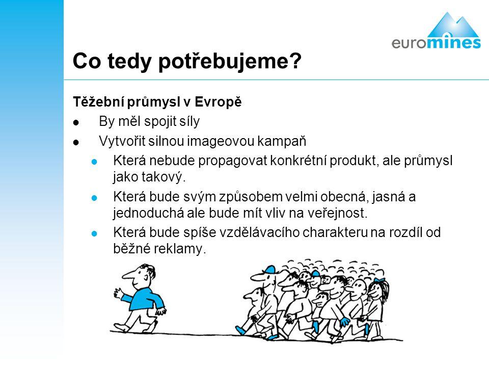 Co tedy potřebujeme Těžební průmysl v Evropě By měl spojit síly