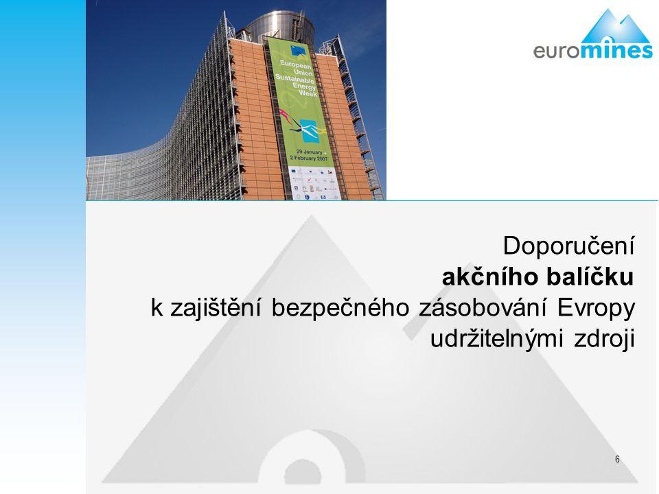 Doporučení akčního balíčku k zajištění bezpečného zásobování Evropy udržitelnými zdroji
