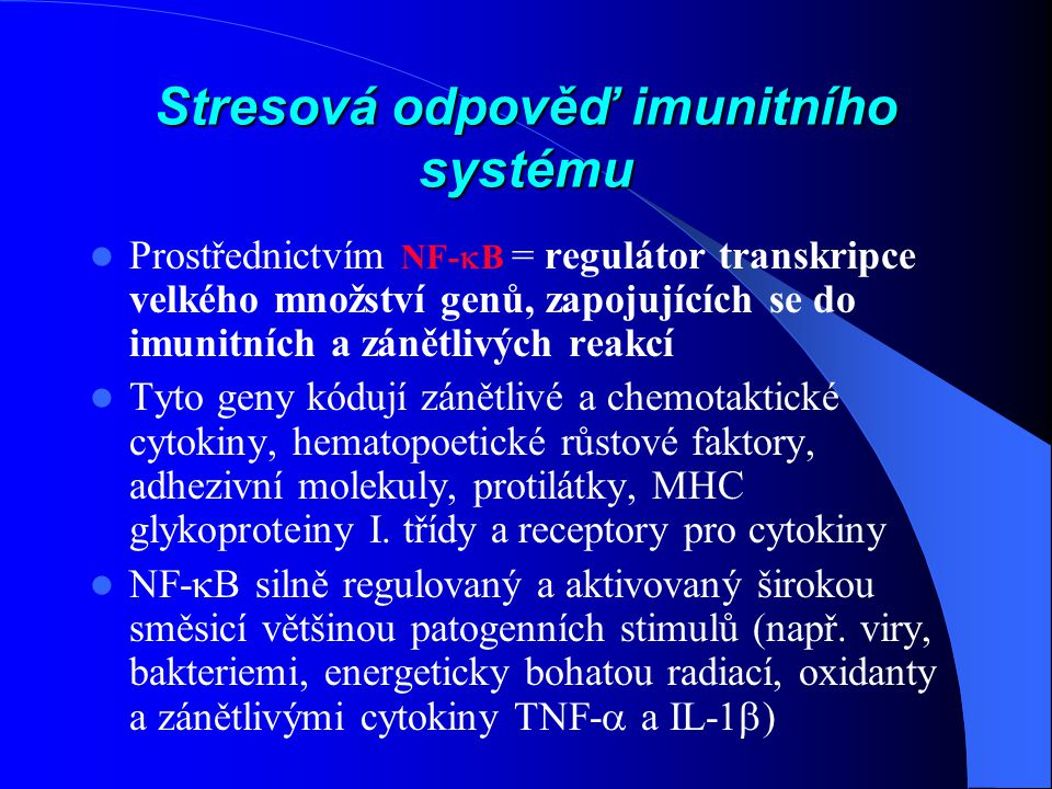 Stresová odpověď imunitního systému