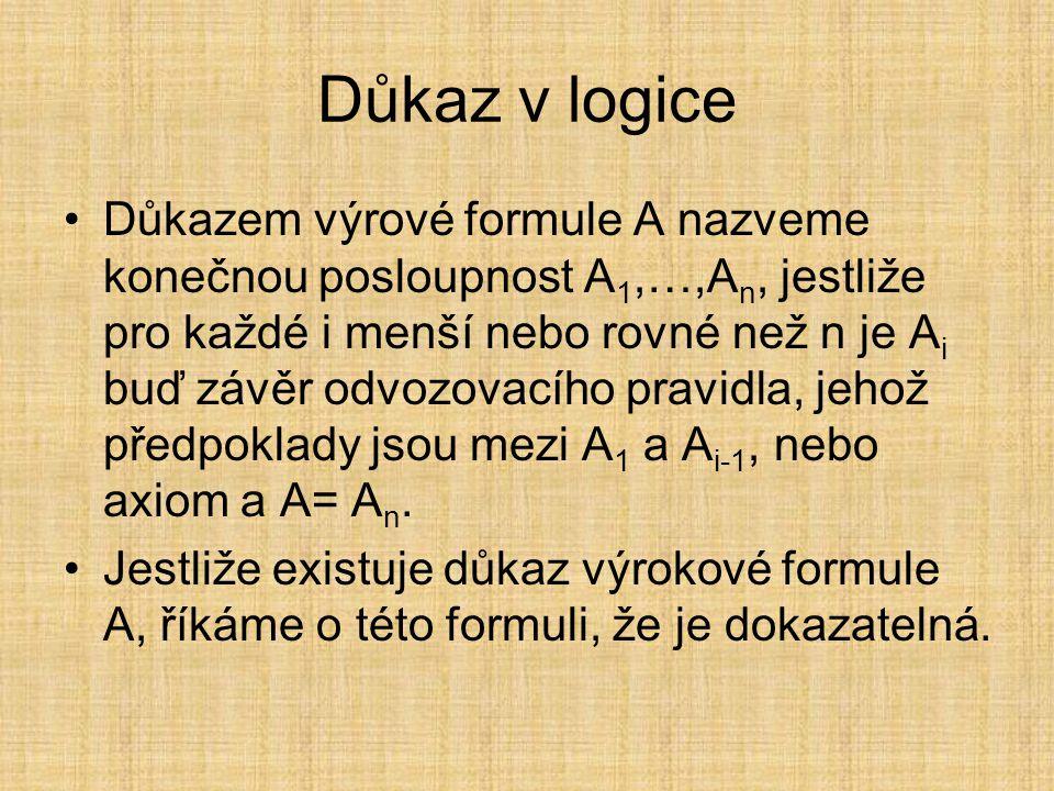 Důkaz v logice