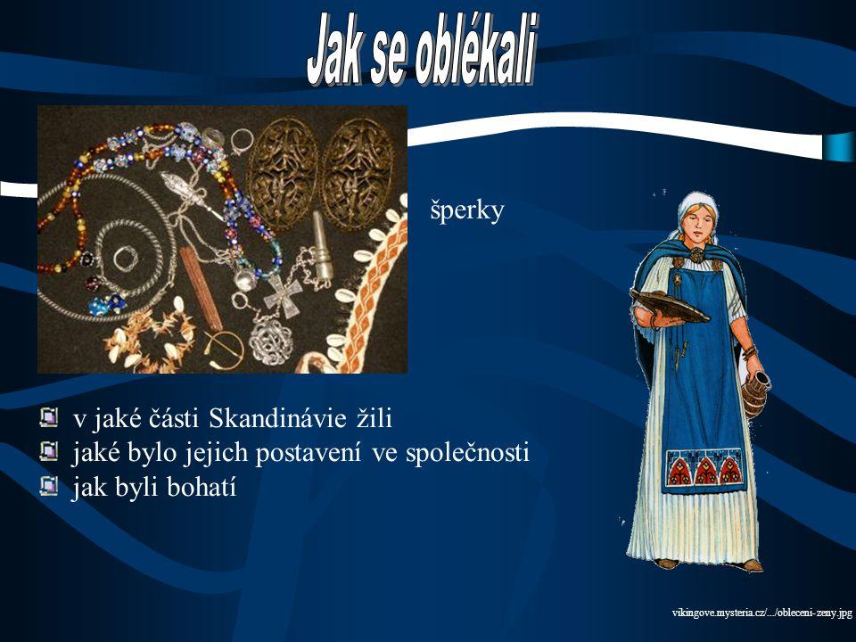 Jak se oblékali šperky v jaké části Skandinávie žili