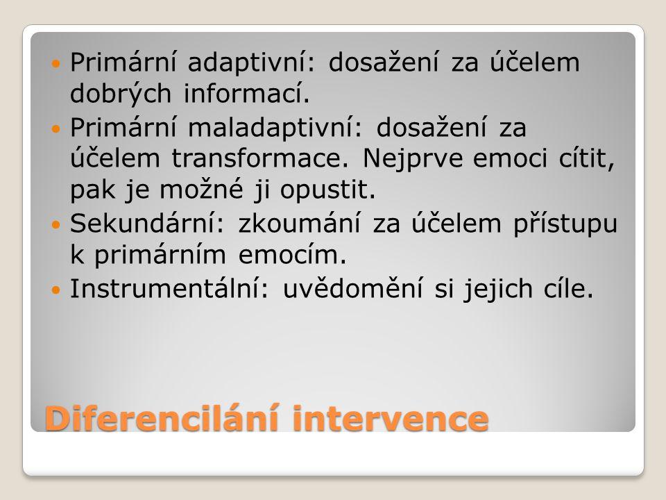 Diferencilání intervence