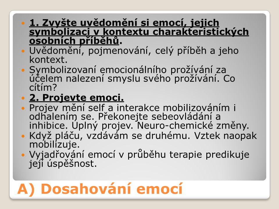 1. Zvyšte uvědomění si emocí, jejich symbolizaci v kontextu charakteristických osobních příběhů.
