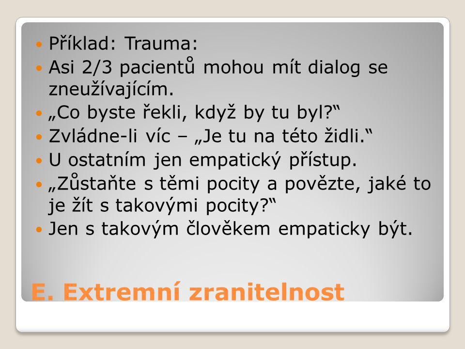E. Extremní zranitelnost
