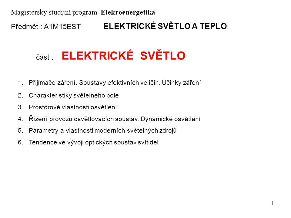 Magisterský studijní program Elekroenergetika