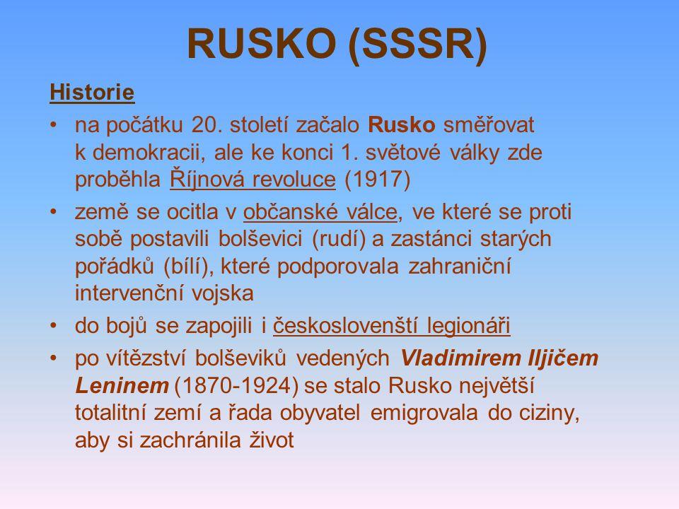 RUSKO (SSSR) Historie.