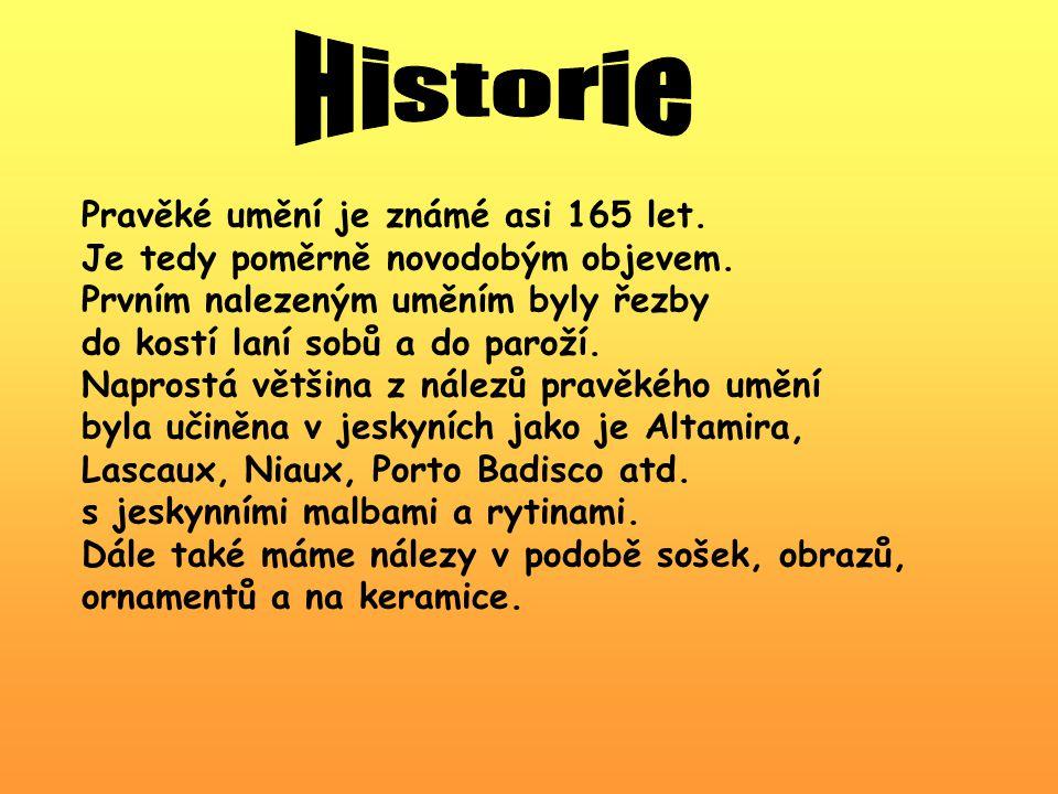 Historie Pravěké umění je známé asi 165 let.