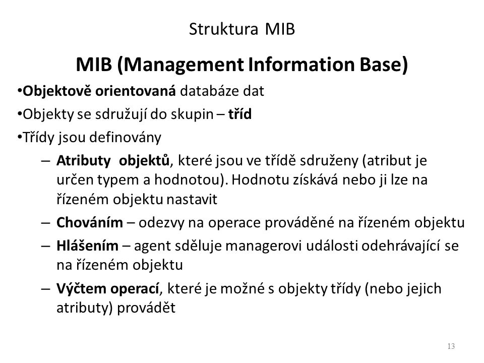 MIB (Management Information Base)