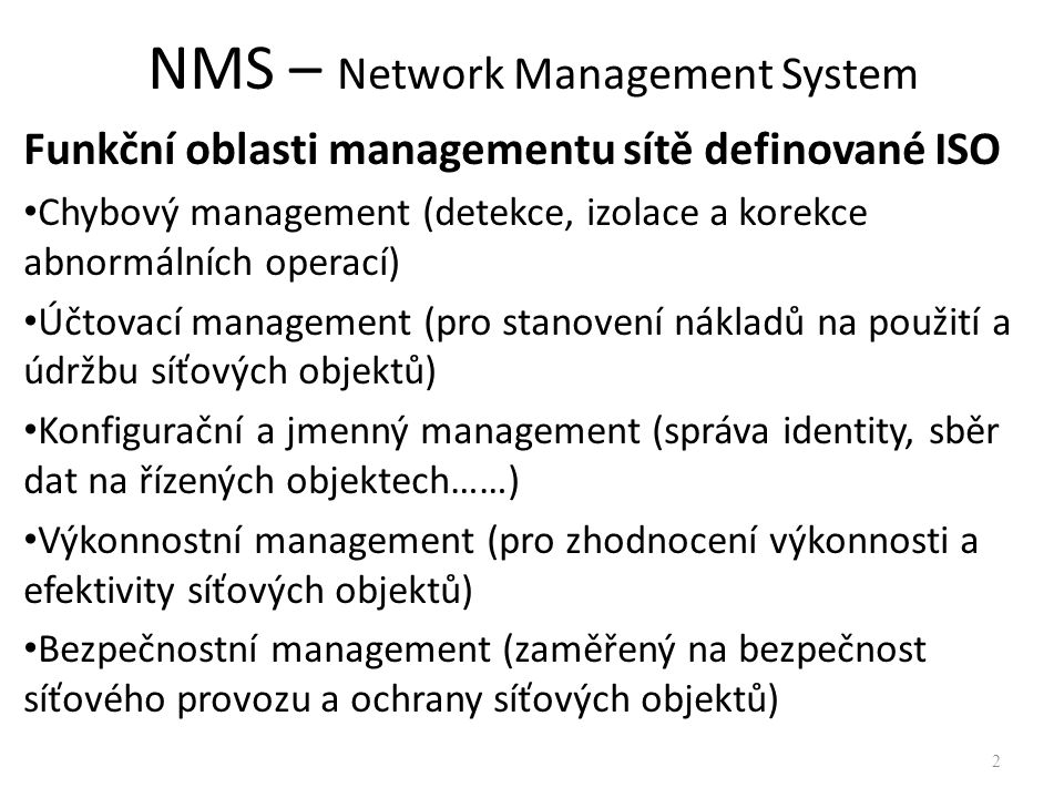 NMS – Network Management System