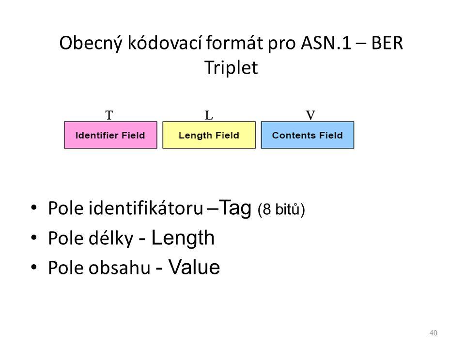 Obecný kódovací formát pro ASN.1 – BER Triplet