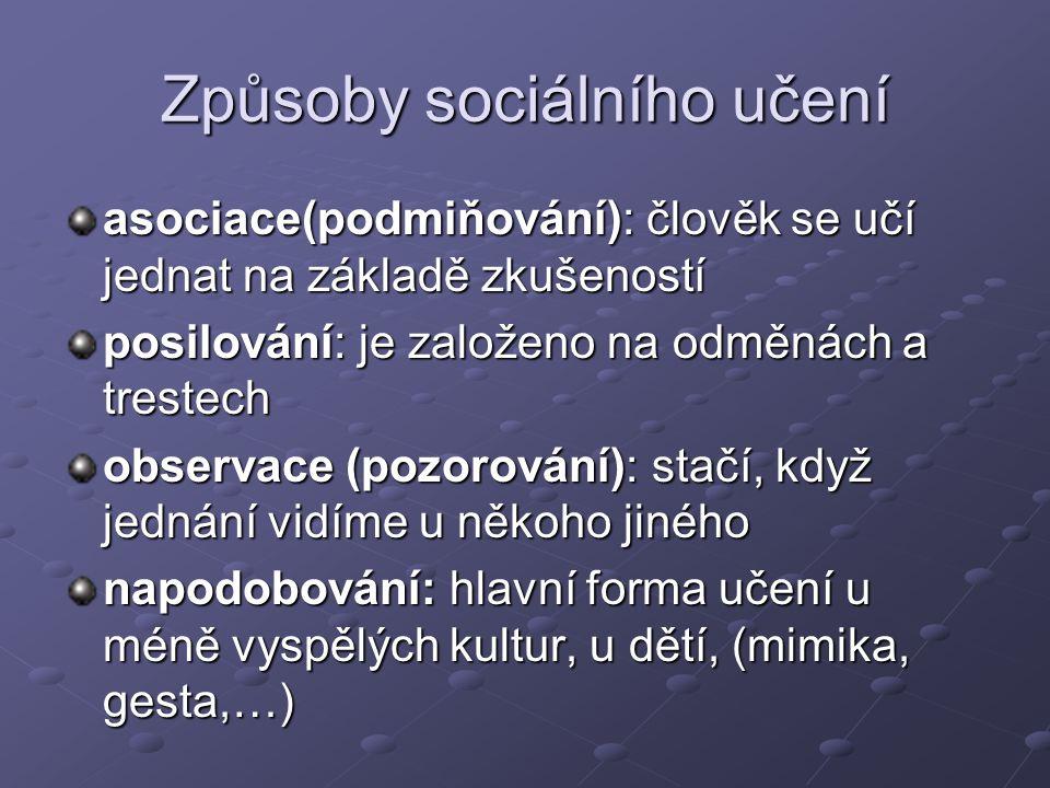 Způsoby sociálního učení