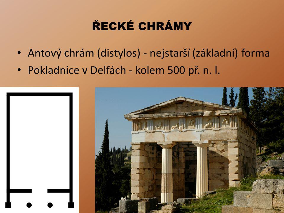 Antový chrám (distylos) - nejstarší (základní) forma