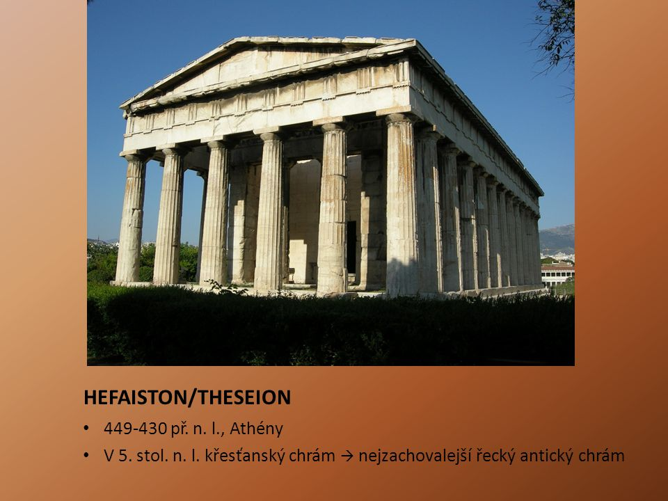 HEFAISTON/THESEION 449-430 př. n. l., Athény