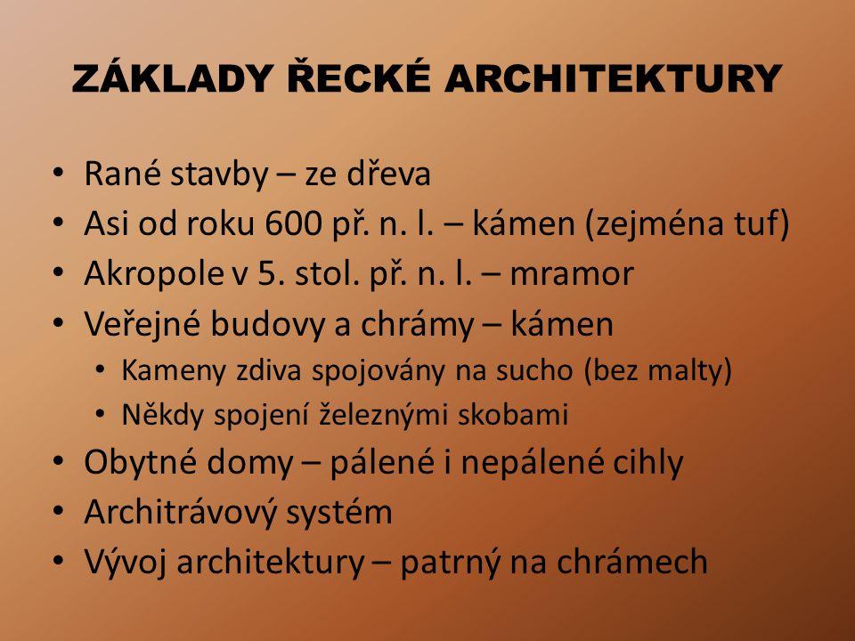 ZÁKLADY ŘECKÉ ARCHITEKTURY