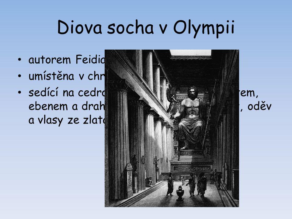 Diova socha v Olympii autorem Feidias, kolem r. 433 př. n. l.