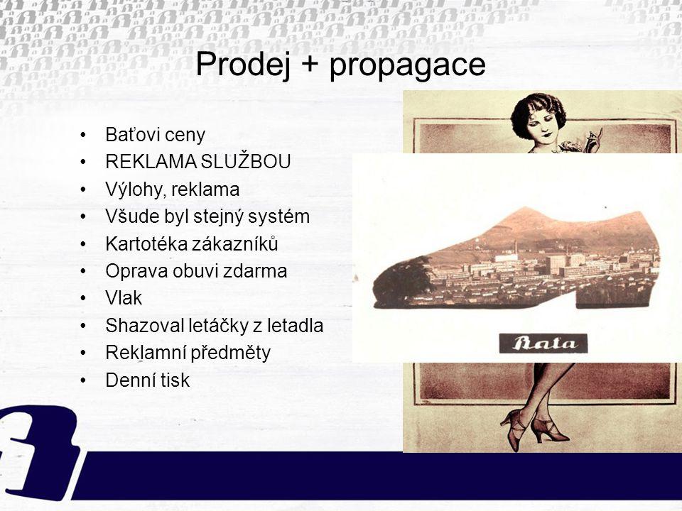 Prodej + propagace Baťovi ceny REKLAMA SLUŽBOU Výlohy, reklama