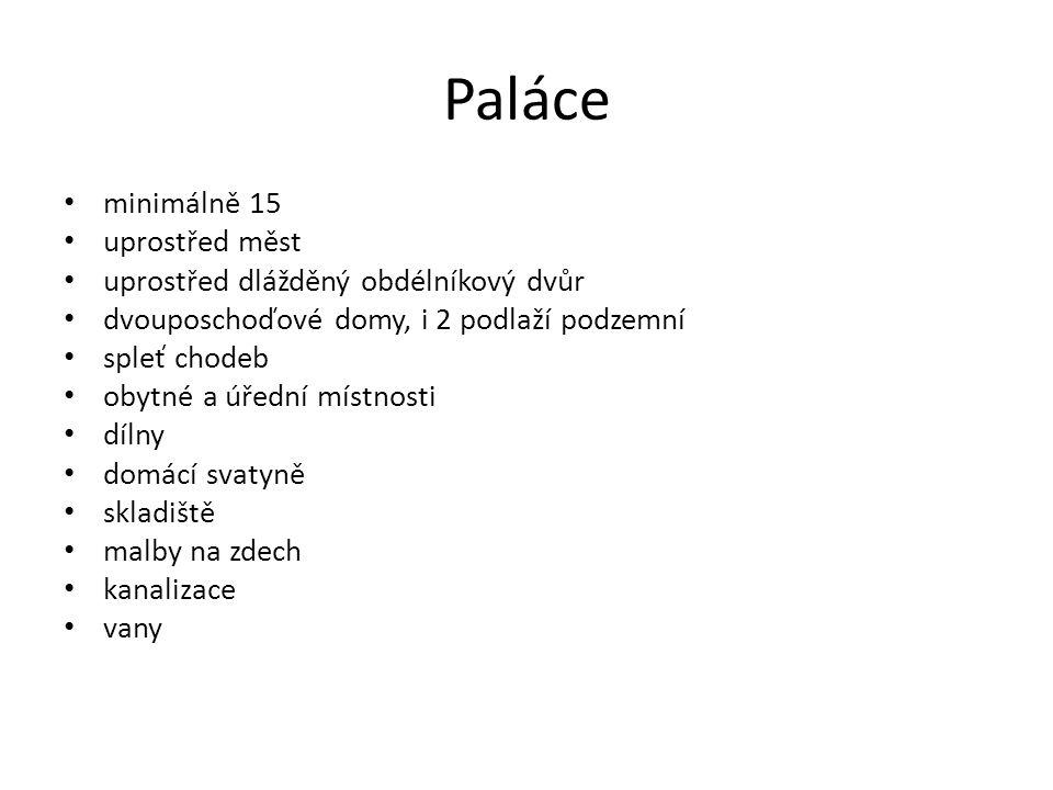 Paláce minimálně 15 uprostřed měst uprostřed dlážděný obdélníkový dvůr