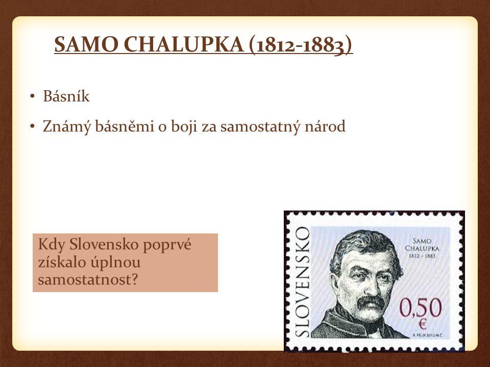 SAMO CHALUPKA (1812-1883) Básník