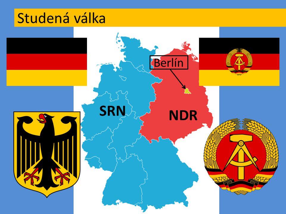 Studená válka Berlín SRN NDR