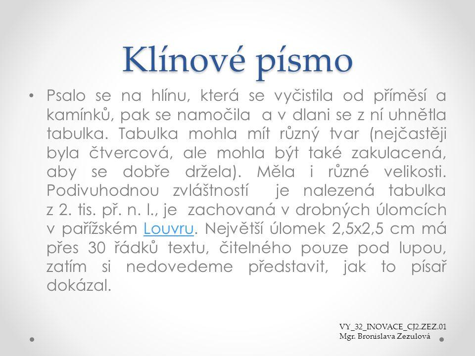 Klínové písmo