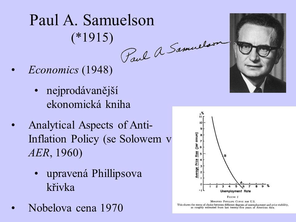 Paul A. Samuelson (*1915) Economics (1948)