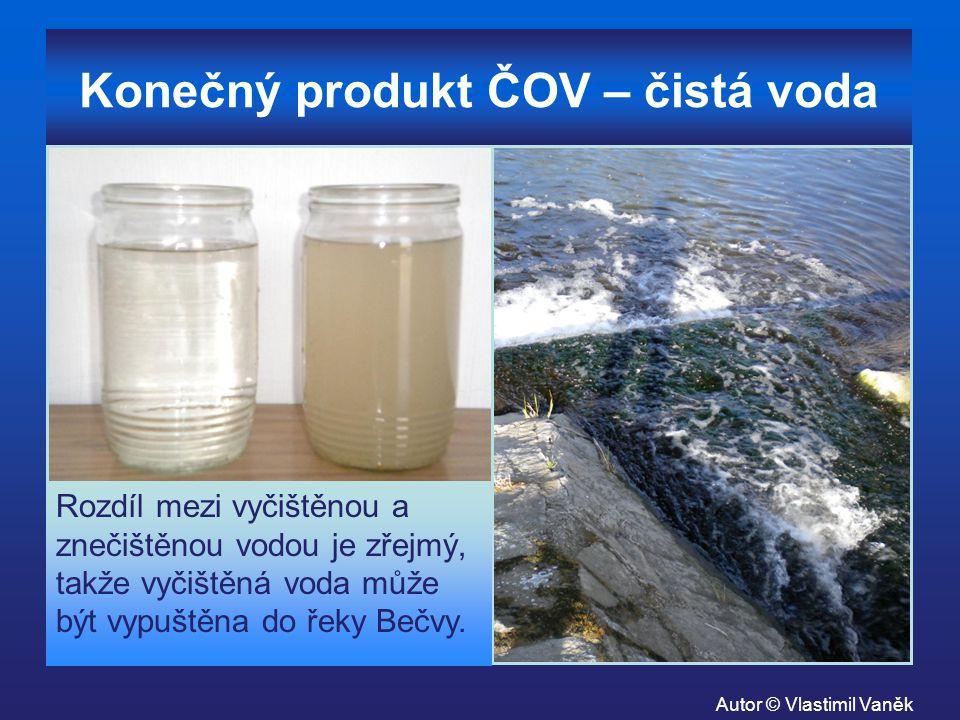 Konečný produkt ČOV – čistá voda