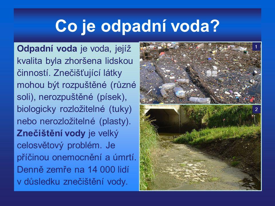Co je odpadní voda Odpadní voda je voda, jejíž