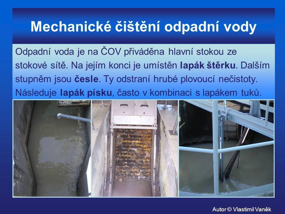 Mechanické čištění odpadní vody