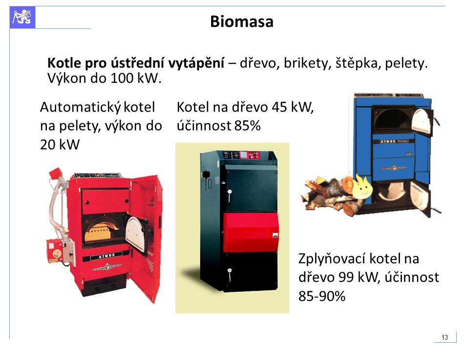 Biomasa Kotle pro ústřední vytápění – dřevo, brikety, štěpka, pelety. Výkon do 100 kW. Automatický kotel na pelety, výkon do 20 kW.