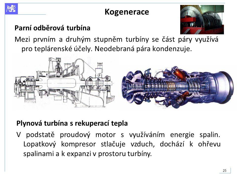 Kogenerace Parní odběrová turbína