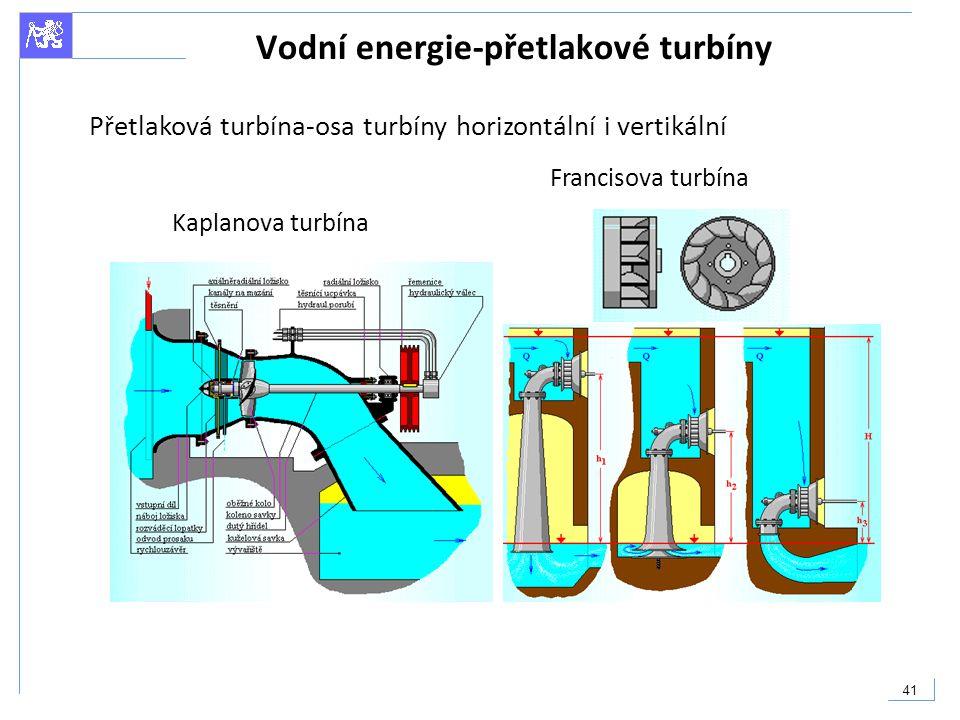 Vodní energie-přetlakové turbíny