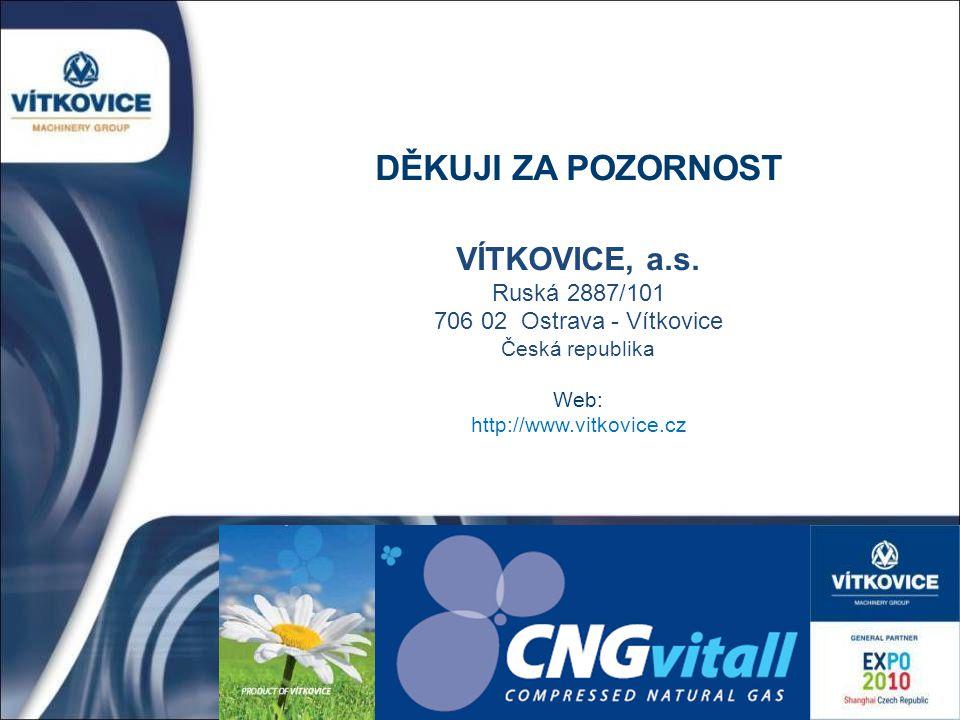 VÍTKOVICE, a.s. Ruská 2887/101 706 02 Ostrava - Vítkovice