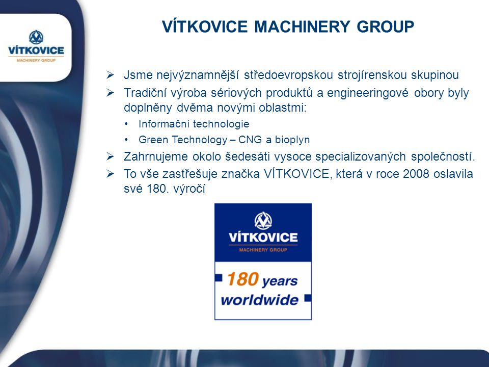 VÍTKOVICE MACHINERY GROUP
