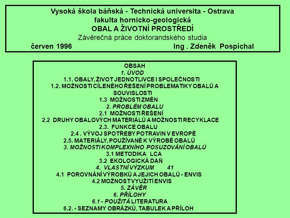 Vysoká škola báňská - Technická universita - Ostrava