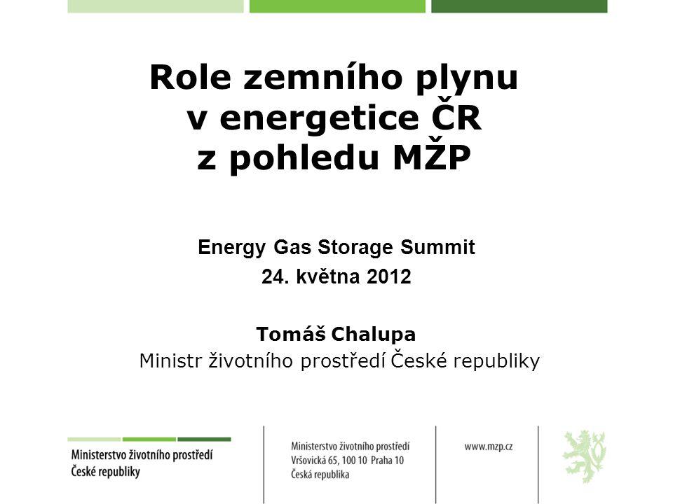 Role zemního plynu v energetice ČR z pohledu MŽP