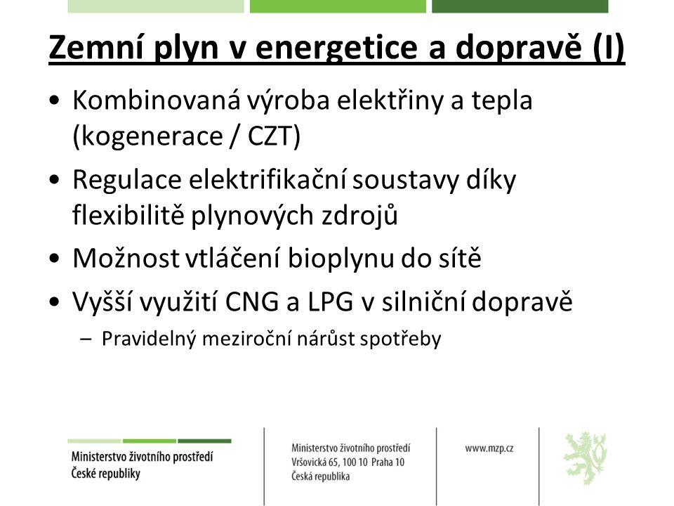 Zemní plyn v energetice a dopravě (I)