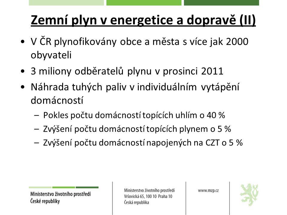 Zemní plyn v energetice a dopravě (II)