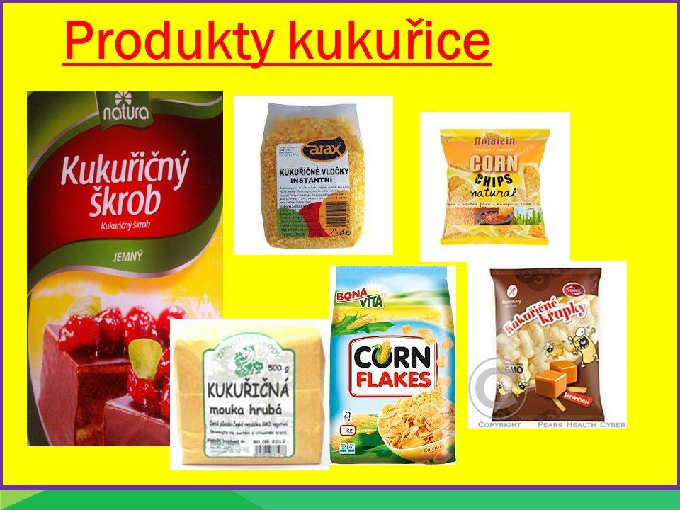 Produkty kukuřice Produkty pšenice