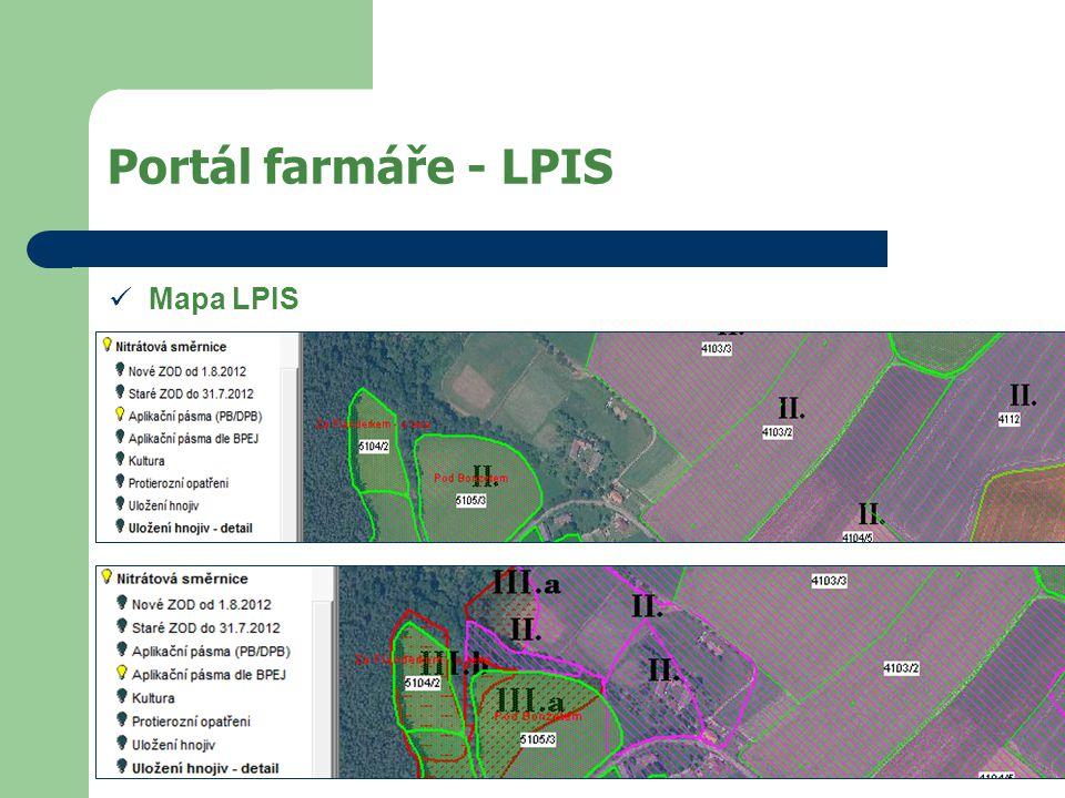 Portál farmáře - LPIS Mapa LPIS