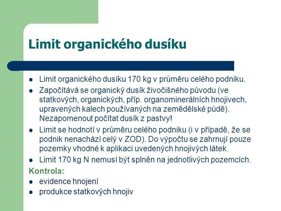 Limit organického dusíku