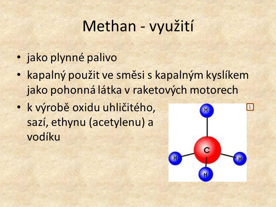 Methan - využití jako plynné palivo