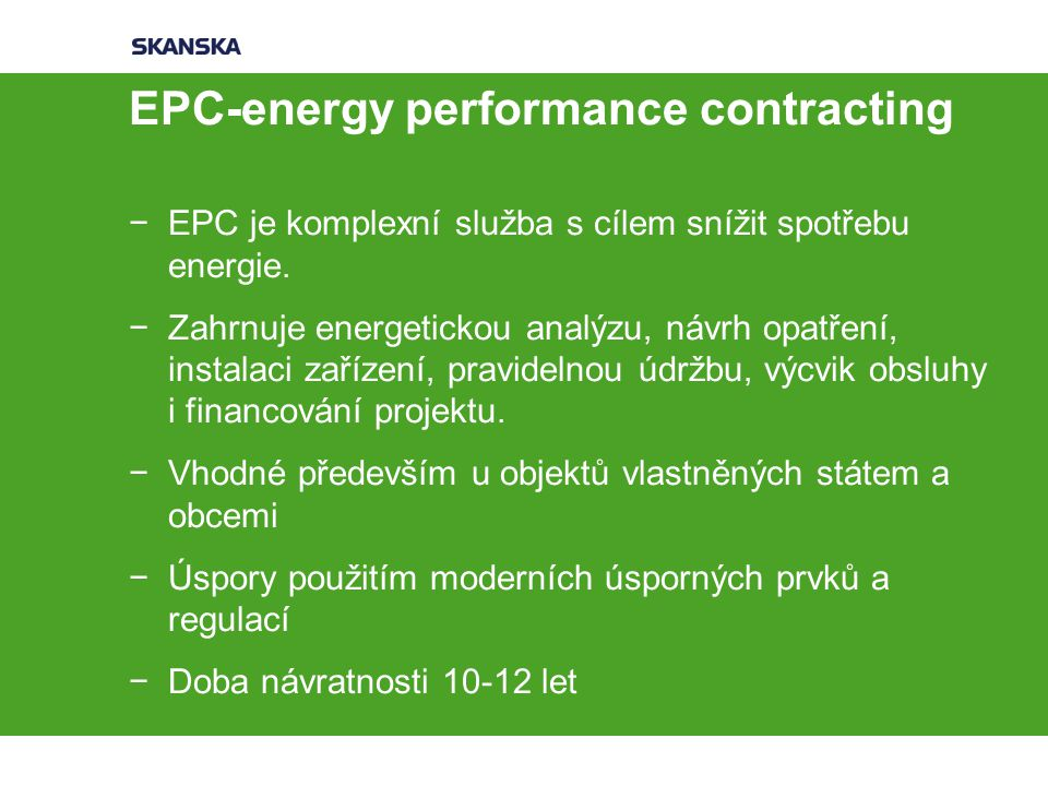 EPC-energy performance contracting