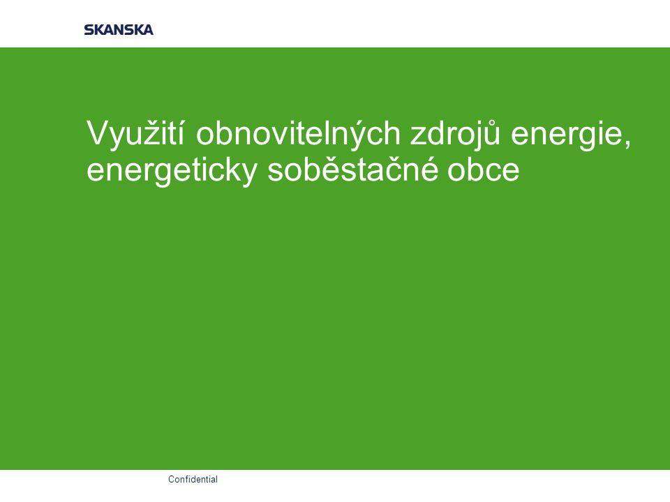 Využití obnovitelných zdrojů energie, energeticky soběstačné obce