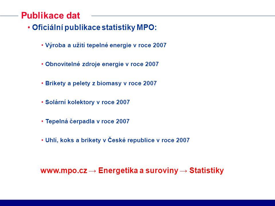 www.mpo.cz → Energetika a suroviny → Statistiky