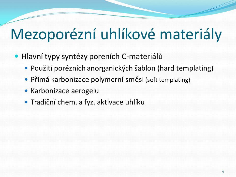 Mezoporézní uhlíkové materiály