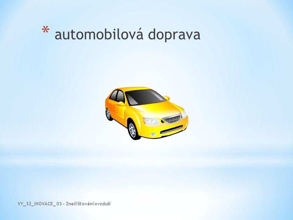 automobilová doprava VY_32_INOVACE_ 03 - Znečišťování ovzduší
