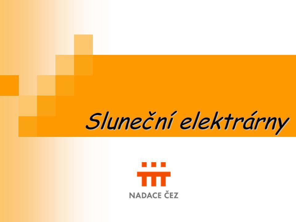 Sluneční elektrárny