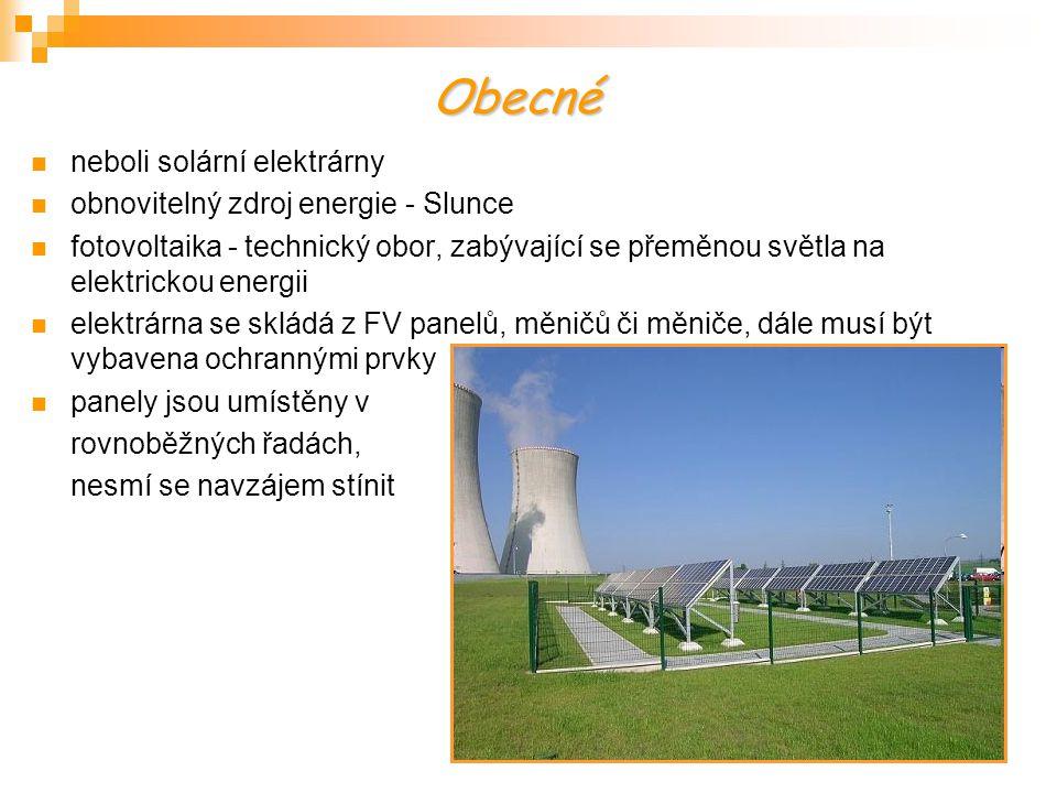Obecné neboli solární elektrárny obnovitelný zdroj energie - Slunce