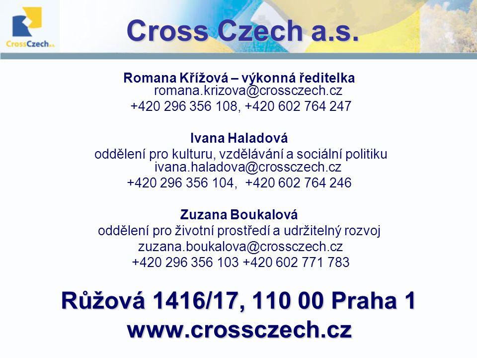 Cross Czech a.s. Růžová 1416/17, 110 00 Praha 1 www.crossczech.cz